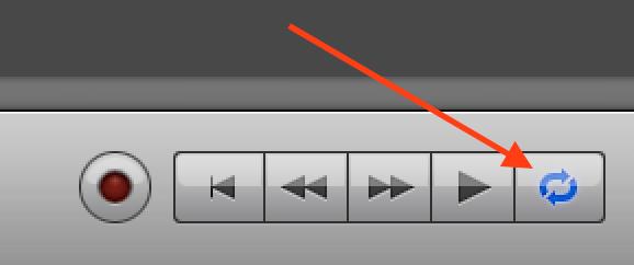 cikla reģiona pogu, veidojot savu audiogrāmatu